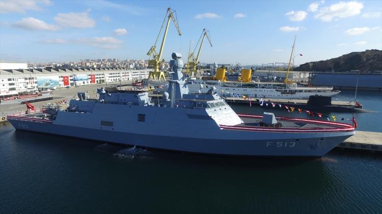 İşte Türkiye'nin 3'üncü milli savaş gemisi Burgazada (F-513)