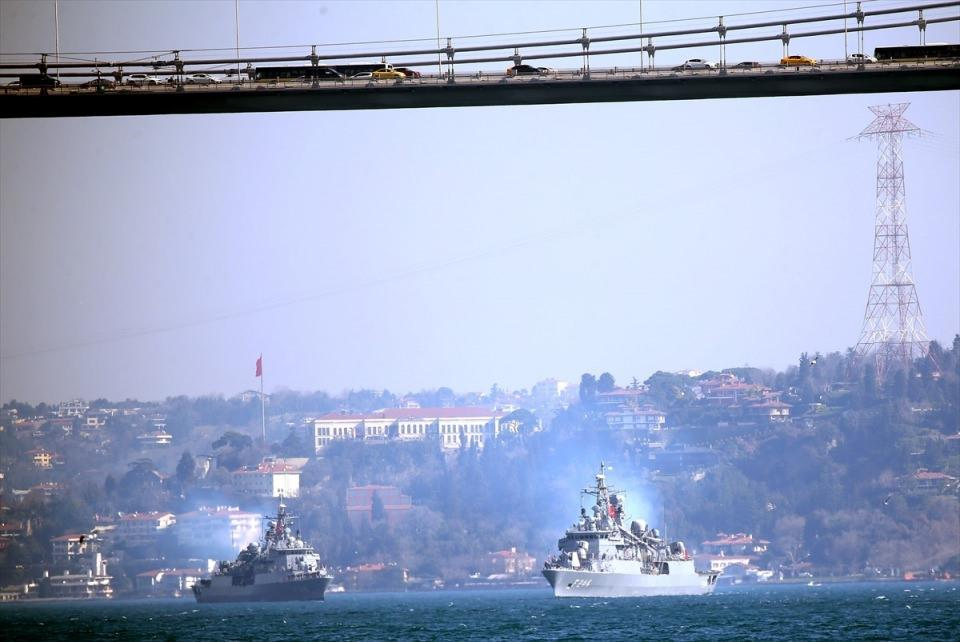 <p>103 geminin katılımıyla 3 denizde eş zamanlı olarak düzenlenen Mavi Vatan 2019 tatbikatının sona ermesinin ardından Karadeniz'de tatbikata katılan bazı gemiler İstanbul Boğazı'na giriş yaptı.</p>  <p></p>  <p></p>