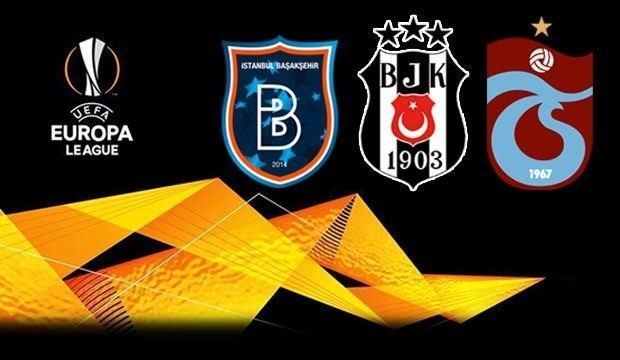 Beşiktaş, Trabzonspor ve Başakşehir'in UEFA Avrupa Ligi'nde rakipleri belli oldu
