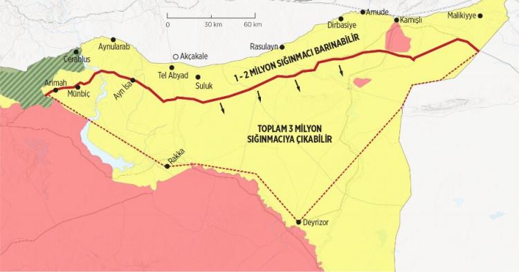 """<p><span style=""""color:#FFD700""""><strong>1- """"Sınır güvenliğini"""" sağlamak</strong></span><br /> <br /> Türkiye; terör örgütleri PKK/YPG-PYD ve DEAŞ'ın kendi sınırlarına yönelik tüm tehdit ve saldırılarını engellemek istiyor</p>"""