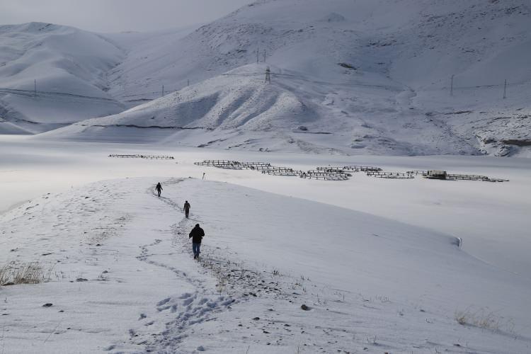 <p>Doğu Anadolu Bölgesi'nde kar yağışının ardından etkili olan soğuk hava, hayatı olumsuz etkiliyor. Kar nedeniyle 29 yerleşim yerinin yolunun kapalı olduğu Van'da, karla mücadele ekipleri yol açma çalışmalarını aralıksız sürdürüyor. Kentte hava sıcaklığı geceleri sıfırın altında 20 dereceye kadar düşüyor.</p>