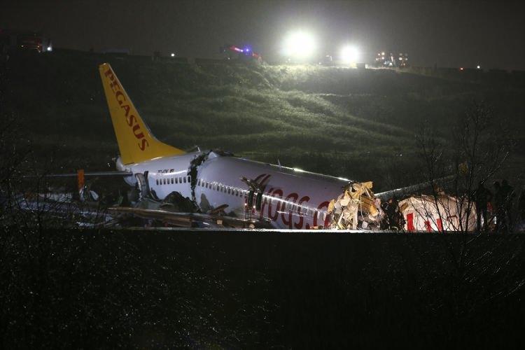 <p>Canlı yayında açıklama yapan bağlanan Ulaştırma Bakanı Cahit Turhan, sert iniş yapan uçağın kırıma uğradığını ve 177 yolcunun bulunduğu uçağın karıştığı kazada can kaybı olmadığını ve yaralıların bulunduğunu açıkladı.</p>