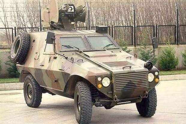 "<p><span style=""color:#FFD700"">Otokar Akrep Zırhlı personel taşıyıcı</span><br /> </p>"