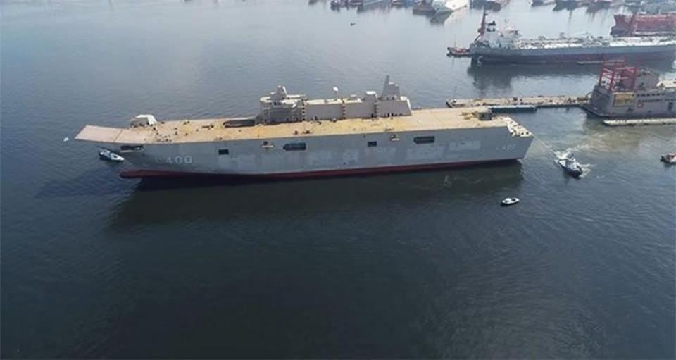 <p><strong>TÜRKİYE'NİN EN BÜYÜK SAVAŞ GEMİSİ İÇİN TARİH VERİLDİ</strong><br /> <br /> Cumhurbaşkanlığı Savunma Sanayii Başkanlığı tarafından başlatılan Çok Maksatlı Amfibi Hücum Gemisi (LHD) Projesi kapsamında TCG Anadolu gemisinin yapımına başlandı.</p>  <p>Türkiye'nin en büyük savaş gemisi olacak TCG Anadolu 2020 sonunda hizmete girecek.</p>
