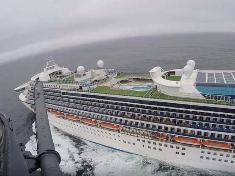 """<p>Geçtiğimiz günlerde ABD'de """"Grand Princess"""" adlı dev yolcu gemisi, 21 kişide virüs çıkması nedeniyle karantinaya alınmıştı.</p>"""