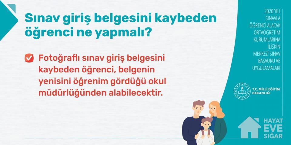 <p><strong>LGS 2020 - Sınava giriş belgesini kaybeden öğrenci ne yapmalı?</strong></p>