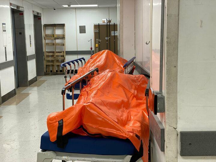 <p>ABD'de koronavirüsten ölenlerin sayısı 8 bini geçti, vaka sayısı ise 312 bine yükseldi. Salgınının merkezi haline gelen New York şehrindeki morg kapasitesi ek çadır ve mobil morglarla artırıldı. Ancak ülkede normalin üzerindeki ölümler nedeniyle Brooklyn'deki bir hastanede morglar doldu, koridorlarda ceset torbaları bekletilmeye başlandı. Görüntüler dehşete düşürdü.</p>  <p></p>