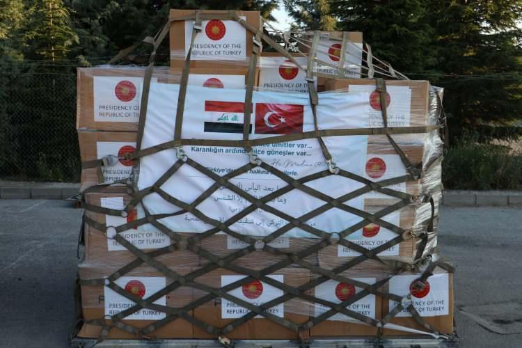 <p>Irak Cumhuriyetine tıbbi yardım malzemesi taşıyan askeri kargo uçağı Etimesgut Askeri Havaalanı'ndan hareket etti.<br /> </p>