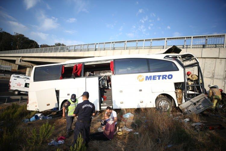 <p>Ajansların geçtiği habere göre; İstanbul Kuzey Marmara Otoyolu'nda yolcu otobüsü yoldan çıktı.</p>  <p></p>