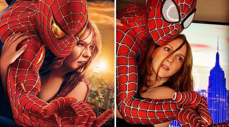 Ünlü filmlerin ikonik sahnelerini canlandıran eğlenceli çift!