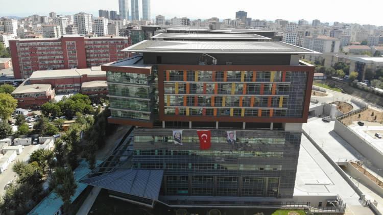 Göztepe Şehir Hastanesinin son durumu havadan görüntülendi