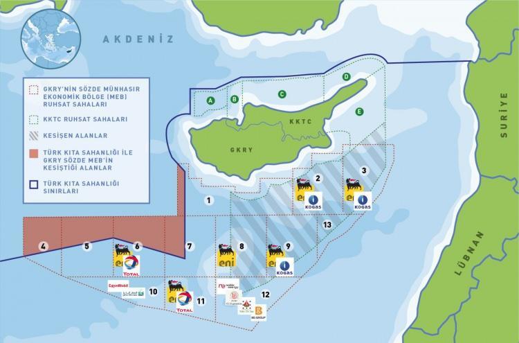 <p>Bu alanda kıyıdaş ülkeler arasında, 'deniz yetki alanı ilanı' ve 'münhasır ekonomik bölge' (MEB) konularında tam bir kaos yaşanıyor.</p>