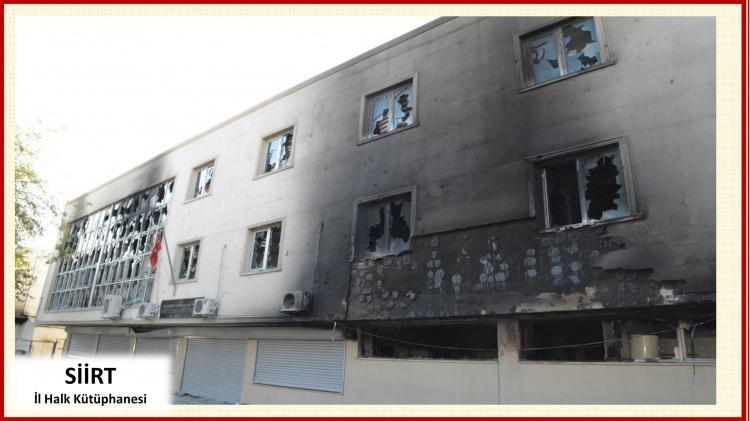 <p>Terör olaylarında yüzlerce kamu binasında hasar oluştu. 6-8 ekim olaylarında maddi zarar 300 milyon liranın üzerinde oldu.</p>  <p></p>