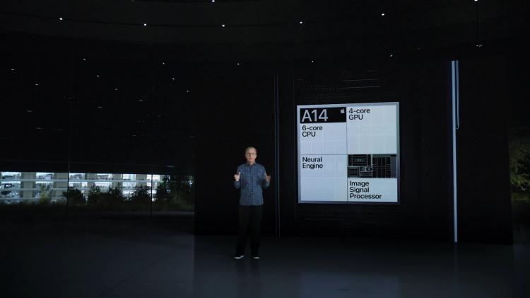 <p>iPhone 12 serisinin gücünü aldığı A14 işlemcisinin bölümleri.</p>