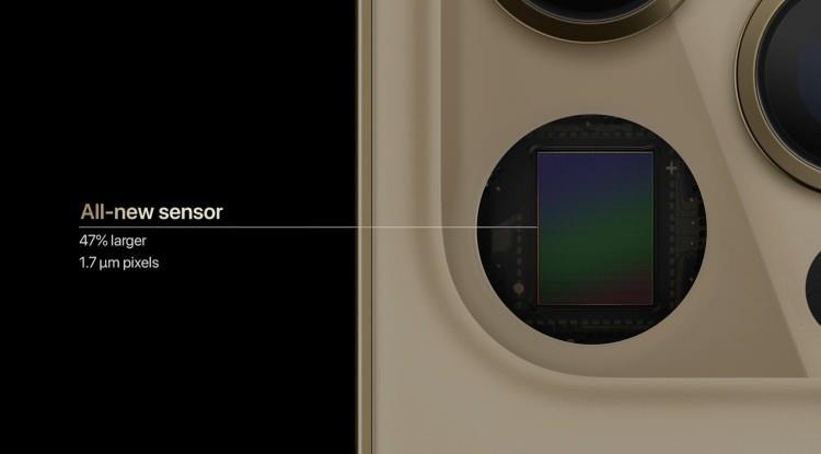 <p>iPhone 12 serisinde yeni sensörler kullanılıyor.</p>