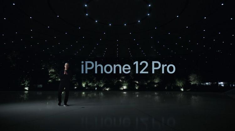 <p>iPhone 12 Pro Tim Cook tarafından tanıtıldı.</p>