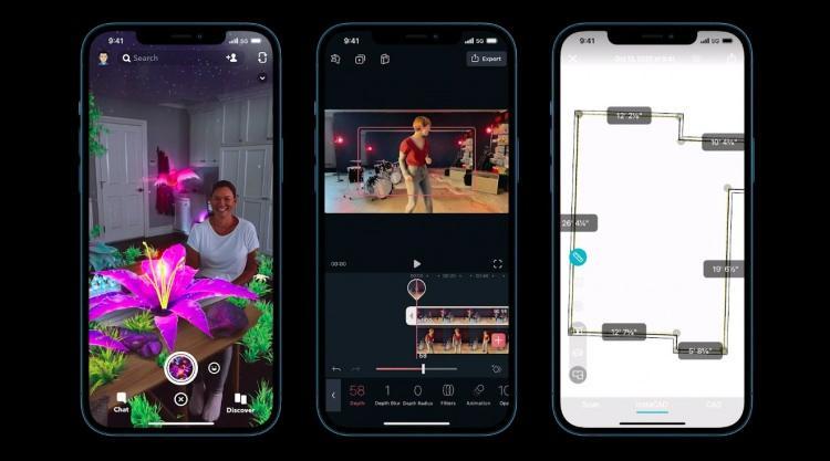 <p>iPhone 12 Pro serisi ayrıca LİDAR sensörüne sahip. Bu sayede alan derinliği ve ölçümlemesi yaparak bulunduğunuz yerin üç boyutlu haritasını çıkarabiliyor.</p>