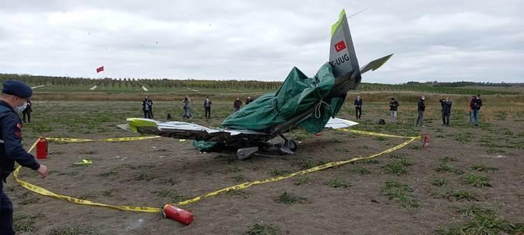 <p>İstanbul Hezarfen Ahmet Çelebi Havaalanı'ndan saat 10.56'da havalanan özel bir havayolu şirketine ait TCUGG kuyruk numaralı Sonaca F 201 tipi eğitim uçağı Büyükçekmece'de düştü.</p>  <p></p>