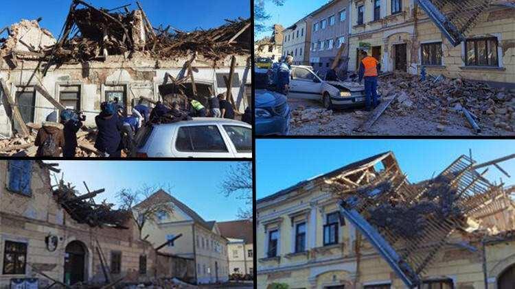 <p>Hırvatistan'da 2020'nin son günlerinde bir deprem fırtınası yaşanıyor. Pazartesi günü 5,2 ve 5 büyüklüğündeki depremlerle sarsılan Balkan ülkesinde, bugün aynı noktada 6,3'lük deprem meydana geldi. Deprem çok sayıda ülkede hissedilirken, Slovenya, şiddetli sarsıntı sonrası önlem olarak nükleer santrali kapattığını bildirdi.</p>