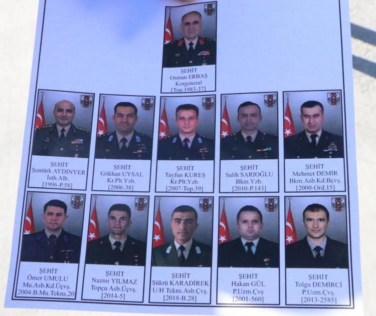<p>Bingöl'den kalkan ve Bitlis'in Tatvan ilçesinde kaza kırıma uğrayan helikopterde şehit olan 11 asker için Elazığ'dauğurlama töreni yapıldı.</p>  <p></p>  <p></p>