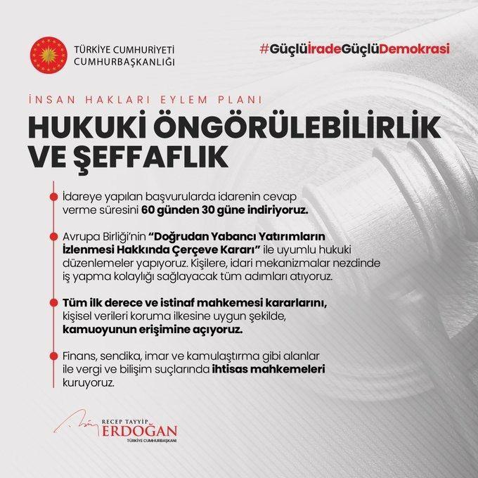 <p>İnsan Hakları Eylem Planımızın 3. Amacı: Hukuki Öngörülebilirlik ve Şeffaflık</p>