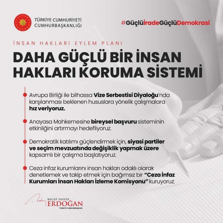 <p>İnsan Hakları Eylem Planımızın 1. Amacı: Daha Güçlü Bir İnsan Hakları Koruma Sistemi</p>