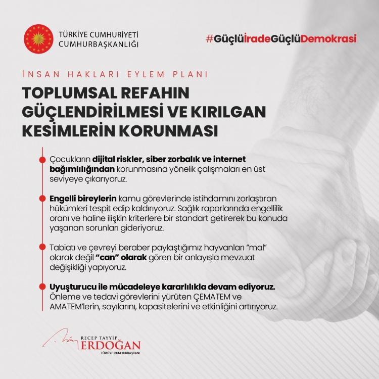 <p>İnsan Hakları Eylem Planımızın 8. Amacı: Toplumsal Refahın Güçlendirilmesi ve Kırılgan Kesimlerin Korunması</p>