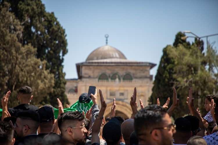 <p>Yüzlerce Filistinlinin katıldığı gösteride, ayrıca Cumhurbaşkanı Erdoğan'a Gazze'ye askeri destek çağrısı yapıldı.</p>  <p></p>