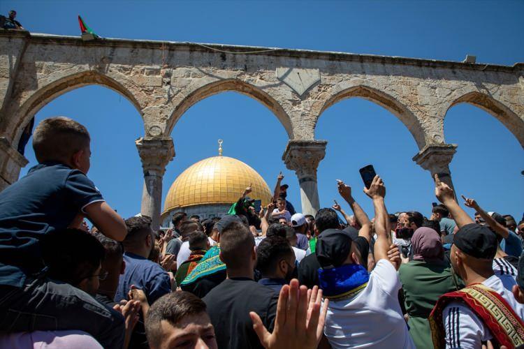 <p>Cuma hutbesinde Gazze Şeridi ve Mescid-i Aksa'daki olaylar ele alındı</p>  <p></p>