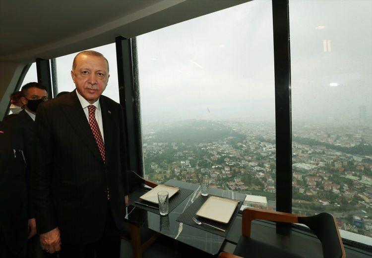 <p>Çamlıca Kulesi'nin resmi açılışı Cumhurbaşkanı Recep Tayyip Erdoğan'ın katılımıyla gerçekleştirildi. Cumhurbaşkanı Erdoğan, burada konuşma yaptı.</p>