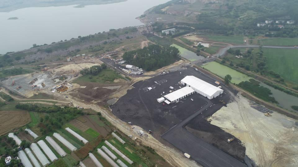 Kanal İstanbul'un temel atma törenine 2 gün kala son durum havadan görüntülendi