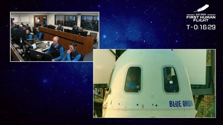 <p>Amazon'un kurucusu Dünyanın en zengin insanı Jeff Bezos, sahibi olduğu uzay araştırmaları şirketi Blue Origin roketi ile uzaya çıktı. Jeff Bezos başarılı bir şekilde yeryüzüne indi.</p>