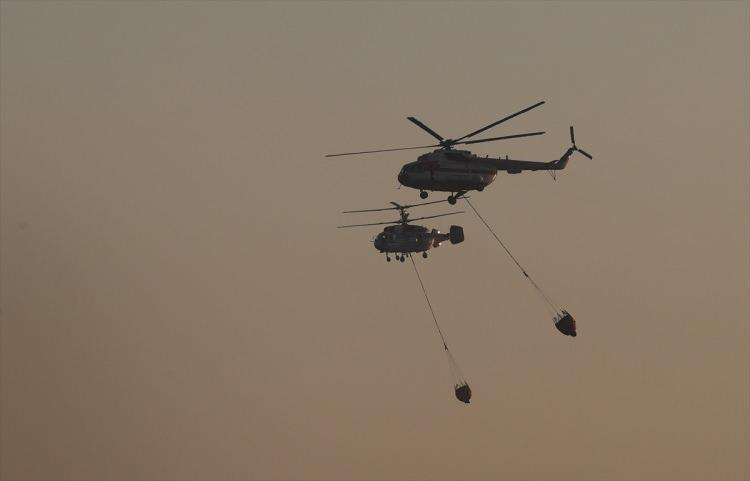 <p><strong>38 HELİKOPTER<br /> <br /> Mİ-8 YANGINLA MÜCADELE EDİYOR</strong></p>  <p>2,500 litre kapasiteli 15 adet Mİ-8 helikopteri yangınla mücadelede kullanılıyor.</p>  <p></p>