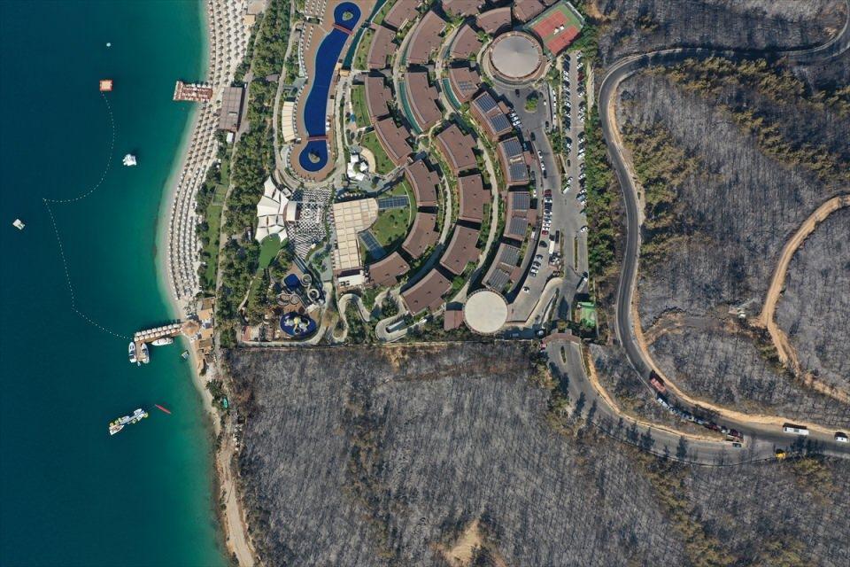 <p>Yangında, 80 hektarlık ormanlık alanın zarar gördüğü bildirilmişti.</p>  <p></p>