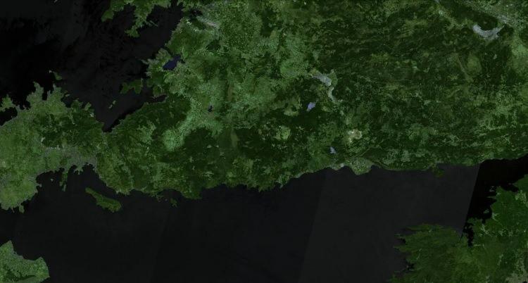 <p><strong>MAZIKÖY - ÇÖKERTME - ÖNCESİ</strong></p>  <p>Mazıköy - Çökertme bölgesi de yangından büyük çaplı etkilendi. 31 Temmuz'da bölgenin ormanları yeşil görünüyordu.</p>