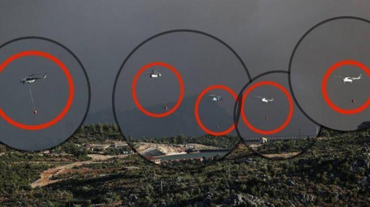 """<p><strong>TEK KAREDE 5 HELİKOPTER</strong></p>  <p>Sosyal medya hesabından açıklama yapan İletişim Başkanı Fahrettin Altun, """"OrmanınKahramanları bugün Antalya'nın Gündoğmuş ilçesinde Yeşil Vatanımızı 8 helikopter, 3 uçak, 61 arazözle alevlere karşı savundu. Tek karede 5 helikopter…"""" dedi.</p>"""