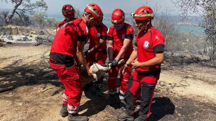 <p><strong>MAĞARA MAHSUR KALAN ÇOBAN VE 45 KEÇİSİ KURTARILDI</strong></p>  <p></p>  <p>Antalya'nın Manavgat ilçesinde çıkan yangında alevlerden kurtulmak için sığındığı mağarada mahsur kalan çoban ve 45 keçisi kurtarıldı. Kahramankazan Belediyesi Arama Kurtarma Birliği tarafından kurtarılan çoban ve keçileri, kamyon yardımıyla bölgeden tahliye edildi.</p>