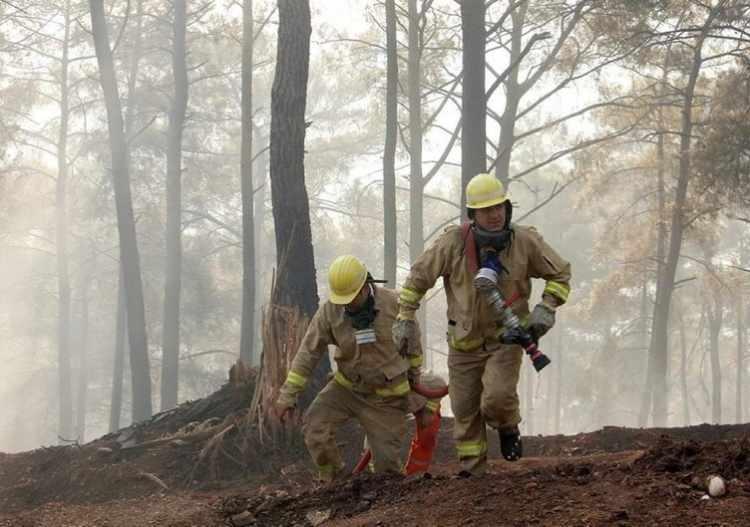 """<p><strong>DUMANDAN ETKİLENEN KÖPEĞE İLKYARDIM</strong></p>  <p>Konya UMKE ekibinden 8 kişiden oluşan 2 tim, günlerdir süren Antalya Manavgat ilçesindeki yangın bölgesine görevlendirildi. Sırtköy'de ekipten Turan Sevim, insanların kaçıştığı sırada bir köpeği fark etti. Köpeği kucağına alıp, yangın yerinden uzaklaştıran Sevim, dumandan etkilenen köpeğe ilk müdahaleyi de yaptı. Sevim, """"Ambulansta köpeğe oksijen verdik. Su içmek istemedi. Göz göze geldik ve suyunu içmeye başladı"""" dedi.</p>"""