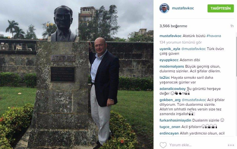 <p>İşte Mustafa Koç'un instagram kareleri...</p>