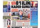 1 Mart Pazartesi gazete manşetleri - Yerli sürücüsüz ve dünyada bir ilk!