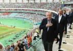 Başkan Erdoğan ve Azerbaycan Cumhurbaşkanı Aliyev tribünde!