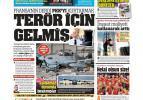 Terör için gelmiş - 1 Eylül gazete manşetleri