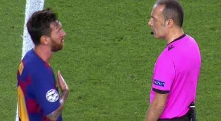 Gecenin maçına damga vuran an: Cüneyt Çakır ve Messi arasında tartışma