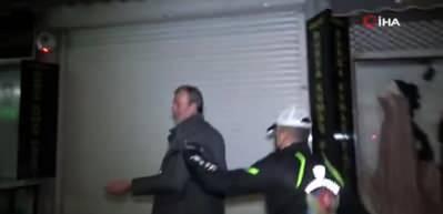10 dakika içerisinde 4 farklı ceza yedi, otomobili bağlandı