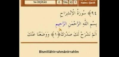 İnşirah suresi Arapça okunuşu! İnşirah suresi meali