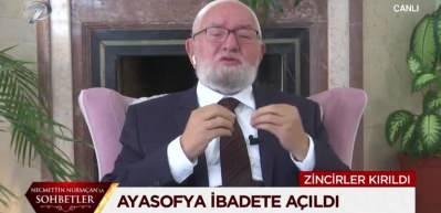 Necmettin Nursaçan Hoca'dan canlı yayında Ayasofya için gözyaşları