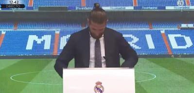 Sergio Ramos'un veda gözyaşları