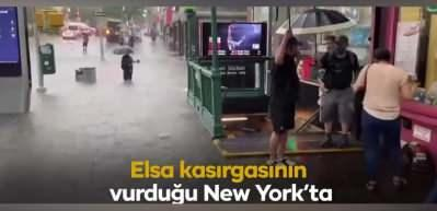 New York Elsa kasırgasına teslim oldu