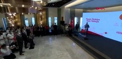 Cumhurbaşkanı Yardımcısı Fuat Oktay ve Bakan Kasapoğlu milli sporcuları Japonya'ya uğurladı