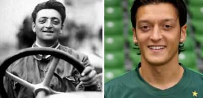 Mesut Özil ile Ferrari'nin kurucusunun benzerliği ağızları açık bıraktırıyor!